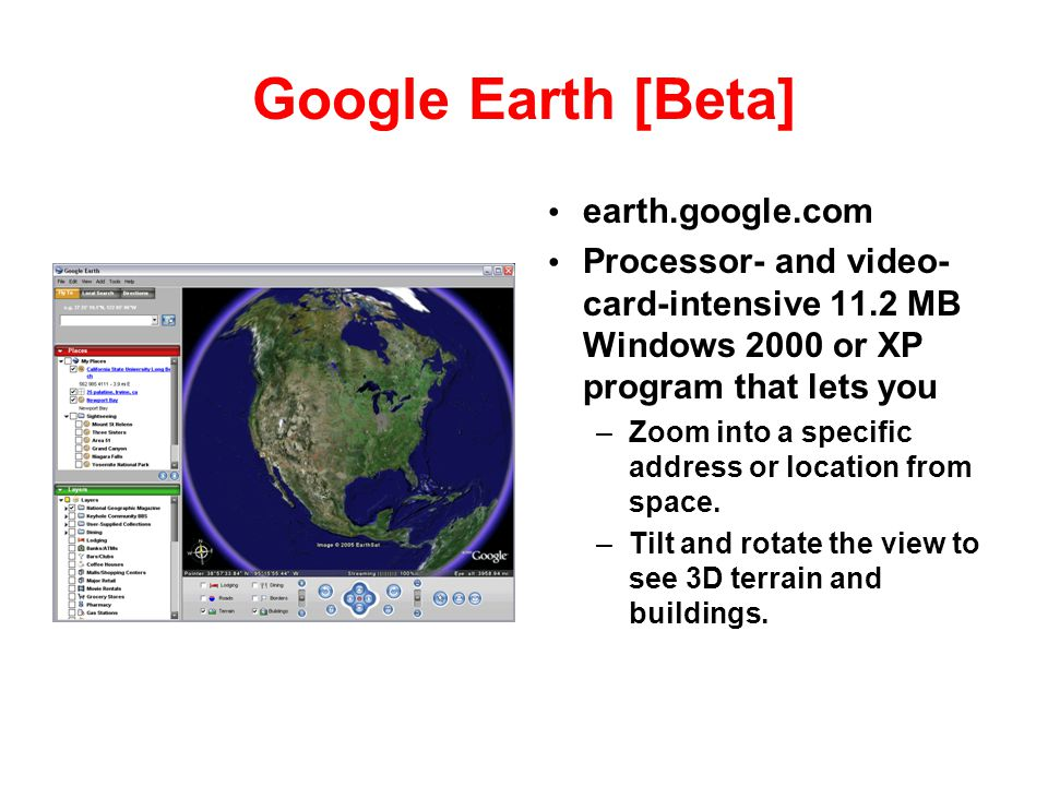 Google Earth [Beta] earth.google.com